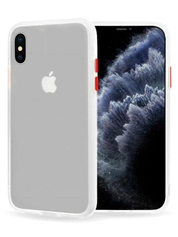 Mock Up Etui Iphone X Xs Biały Z Przyciskami Czerwonymi