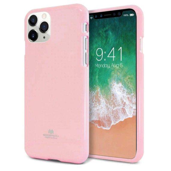 Etui do iPhone 11 Pro Max różowe silikonowe błyszczące