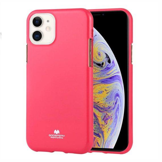 Etui do iPhone 11 silikonowe błyszczące różowe