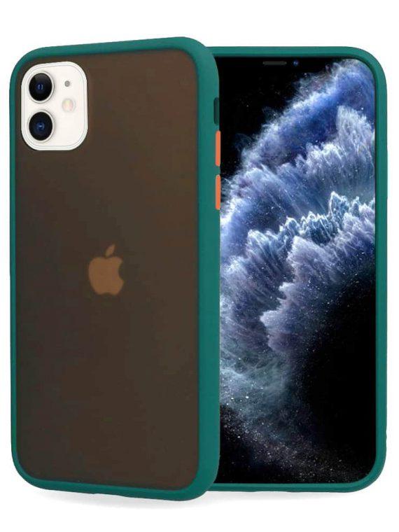 Zielone Ochronne Etui Z Kolorowymi Przyciskami Do Iphone 11 12