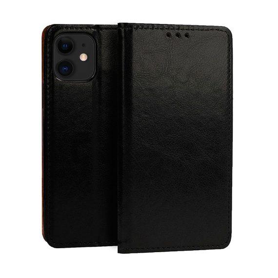Etui do iPhone 11 czarne skórzane eleganckie