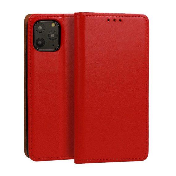 Czerwona skórzana elegancka obudowa do IPhone 11 Pro Max