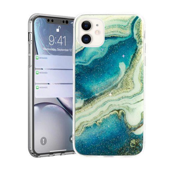 Etui do iPhone 11 silikonowe cienkie morski marmur