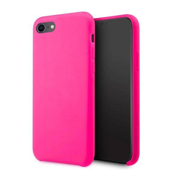 Etui do iPhone SE2020/8/7 silikonowe z mikrofibrą premium soft touch różowe