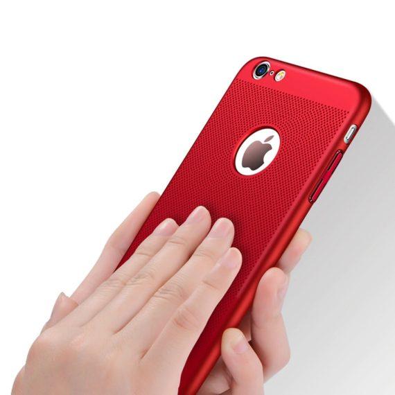 Etui Iphone 7 8 Oddychające Kolor Czerwony 2