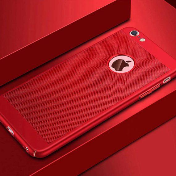 Etui Iphone 7 8 Oddychające Kolor Czerwony 7