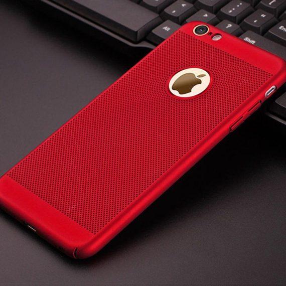 Etui Iphone 7 8 Oddychające Kolor Czerwony 8