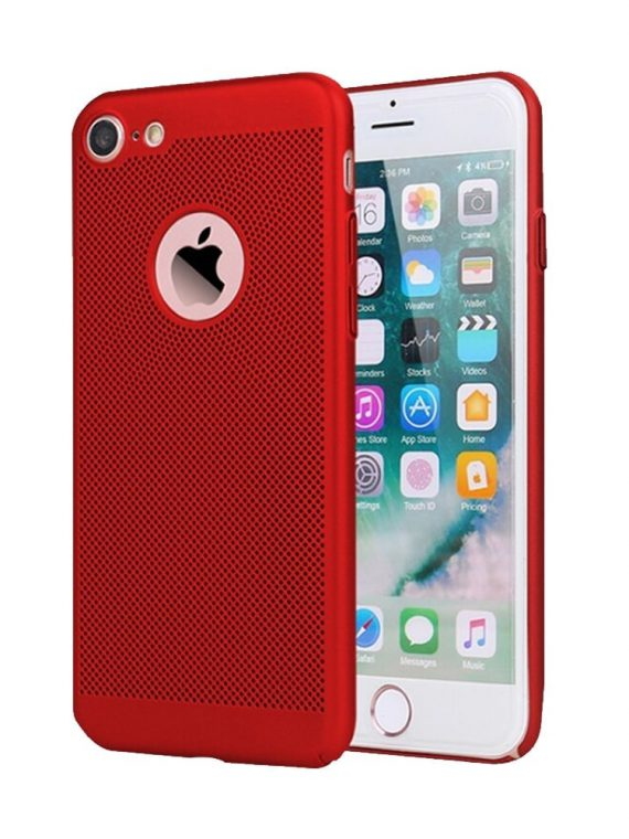 Etui Iphone 7 8 Oddychające Kolor Czerwony 9