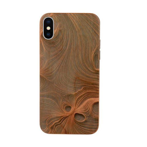 Etui do iPhone X/XS drewniane oryginalne stylowe