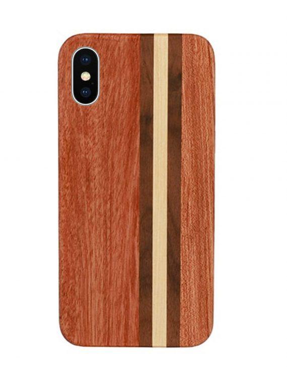 Etui Iphone X Xs Drewniane Z Linią Prosta 1