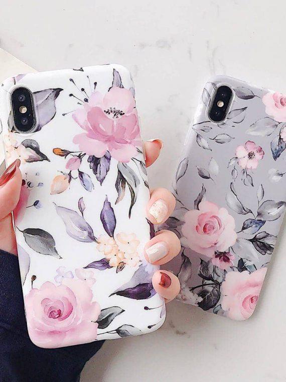 Etui Iphone Xs Max Z Uchwytem Kwiaty 13