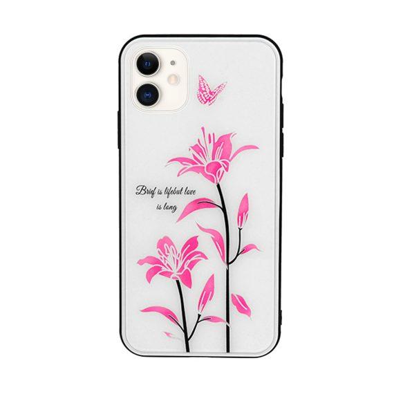 Etui do iPhone 11 silikonowe w lilie zmieniające kolor