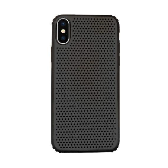 Etui do Iphone X/XS oddychające czarne ze wzmacnianymi rogami