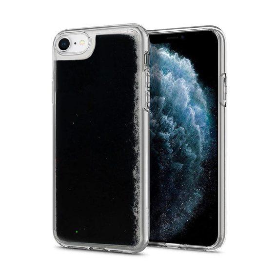 Etui do iPhone SE2020/8/7 przezroczyste silikonowe czarny brokat