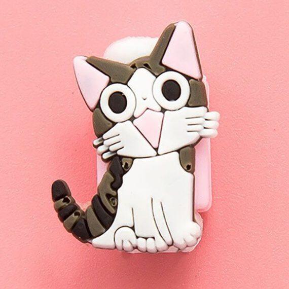 Osłonka zabezpieczenie na kabel lightning ładowarkę zwierzątko Kot