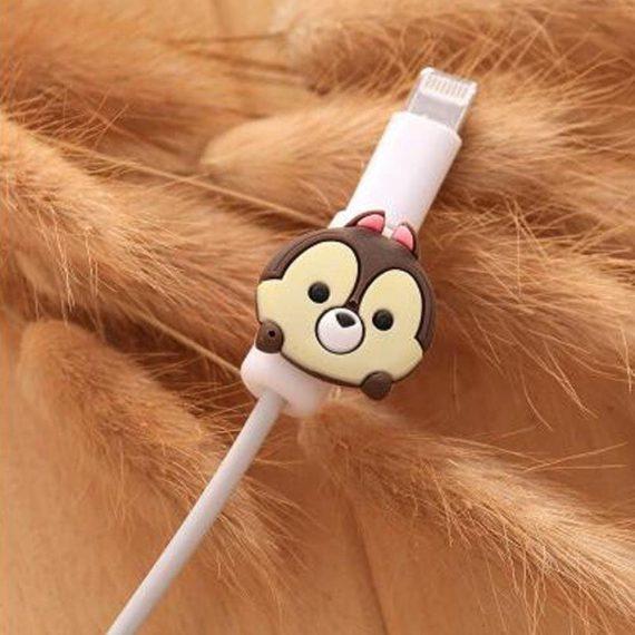 Osłonka zabezpieczenie na kabel lightning ładowarkę zwierzątko Miś
