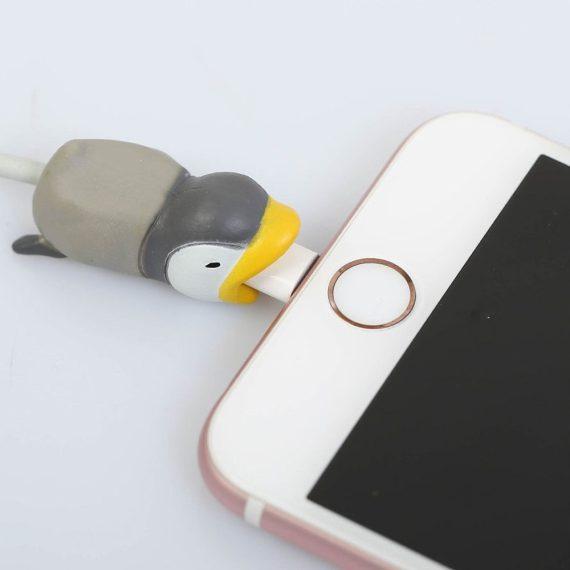 Osłonka zabezpieczenie na kabel lightning ładowarkę zwierzątko Pingwin
