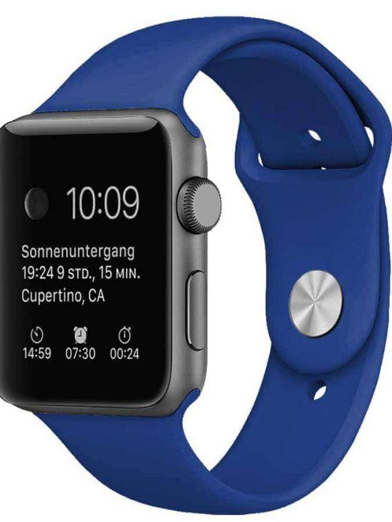 Pasek Silikonowe Na Zegarek Apple Watch 1 Niebieski