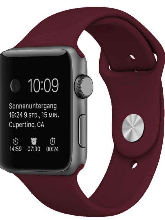 Pasek Silikonowe Na Zegarek Apple Watch 6 Wiśniowy