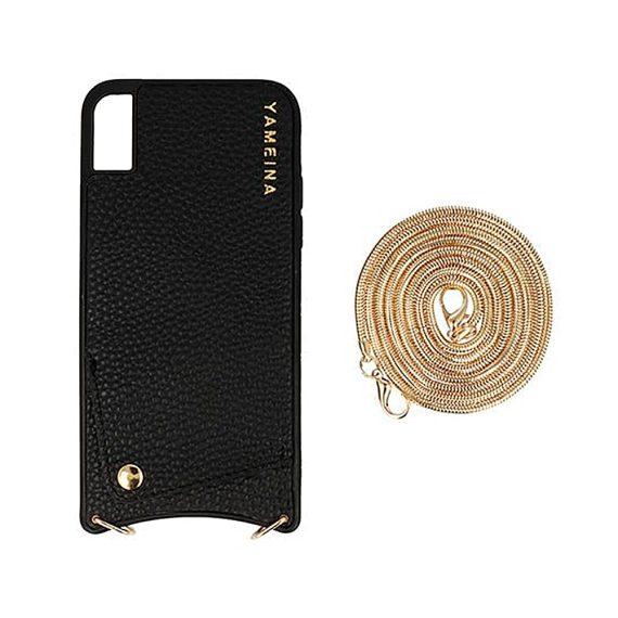 Etui do Iphone X/XS czarne skórzane cienkie torebka