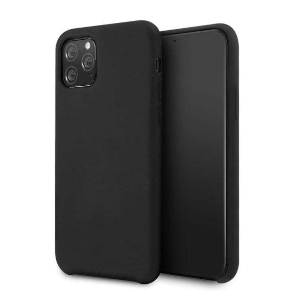 Czarne silikonowe etui do IPhone 11 Pro Max