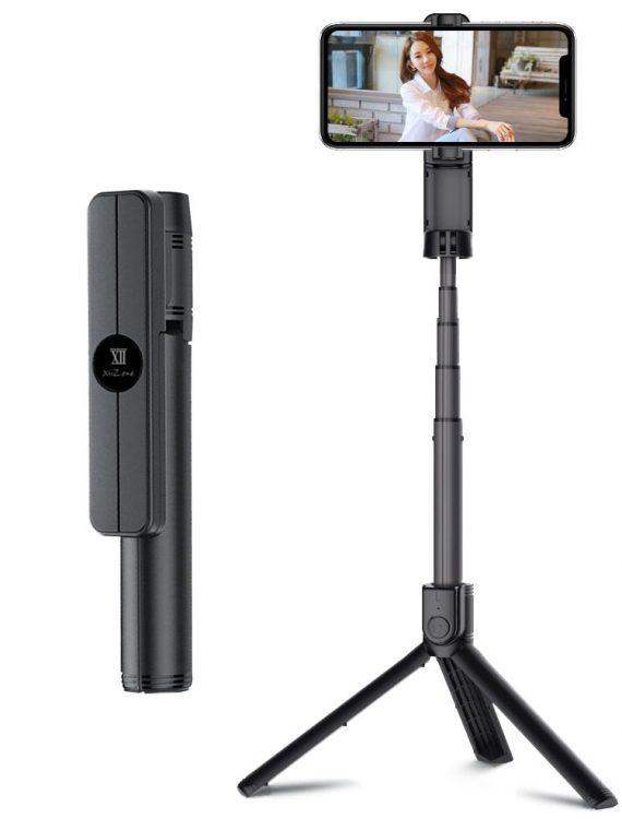 Pol Pl Remax Selfie Stick Teleskopowy Rozsuwany Kijek Do Selfie Statyw Z Pilotem Bluetooth Czarny Xt P018 Black 56875 1