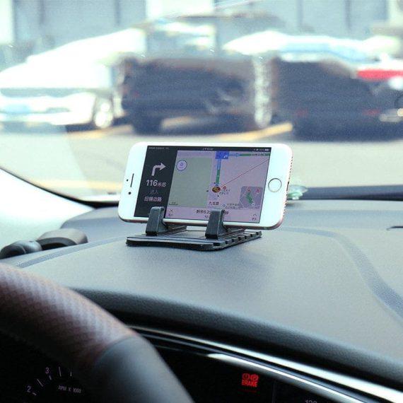 Pol Pl Uniwersalny Uchwyt Samochodowy Silikonowa Podstawka Na Telefon Nano Pad Czarny 54033 10