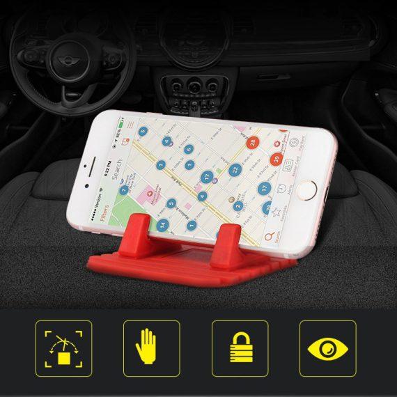 Pol Pl Uniwersalny Uchwyt Samochodowy Silikonowa Podstawka Na Telefon Nano Pad Czarny 54033 12