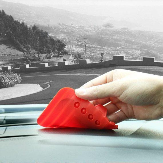 Pol Pl Uniwersalny Uchwyt Samochodowy Silikonowa Podstawka Na Telefon Nano Pad Czarny 54033 5