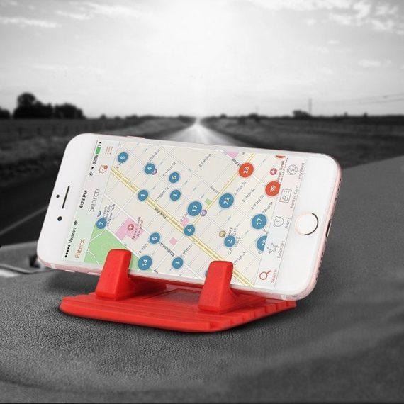 Pol Pl Uniwersalny Uchwyt Samochodowy Silikonowa Podstawka Na Telefon Nano Pad Czarny 54033 6