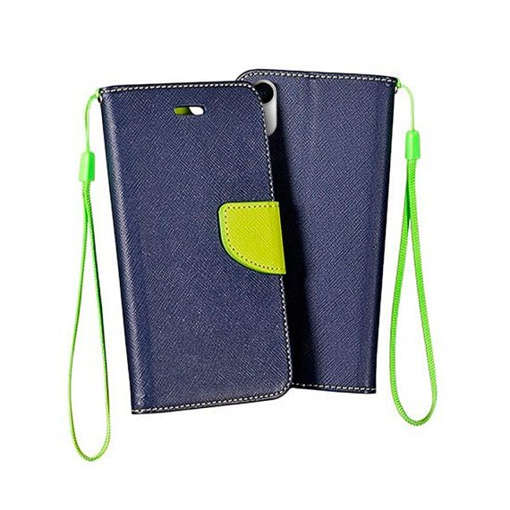 Ochronna obudowa do IPhone XR granatowo-limonkowa