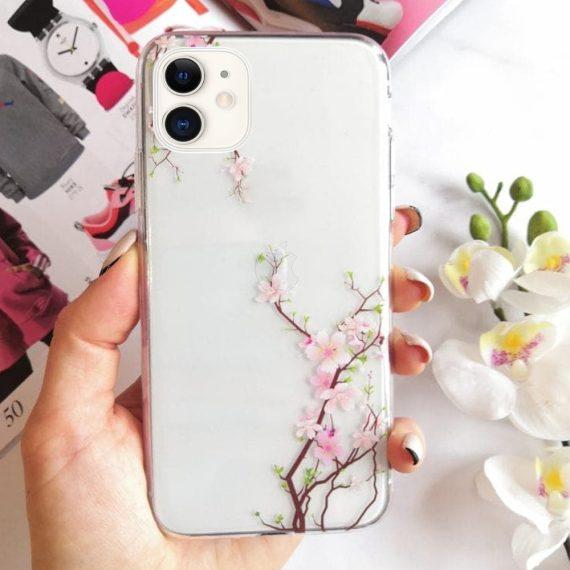 Silikonowe Etui (case) Z Kwiatami Wiśni Do Iphone 11 2