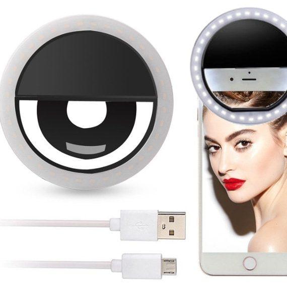 Lampa Pierscieniowa Na Telefon Do Selfie Czarna
