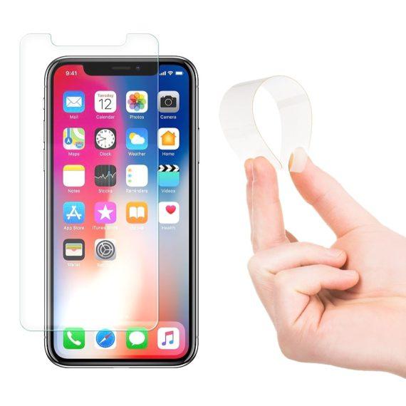 iPhone X/XS szkło hybrydowe Nano Flexi elastyczna folia ze szkłem