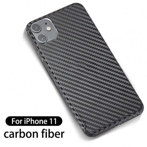 Folia karbonowa iPhone 11 na tył nieszczerbiąca