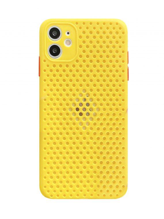 Etui Do Iphone 11 Oddychające Nowoczesne żółte 1