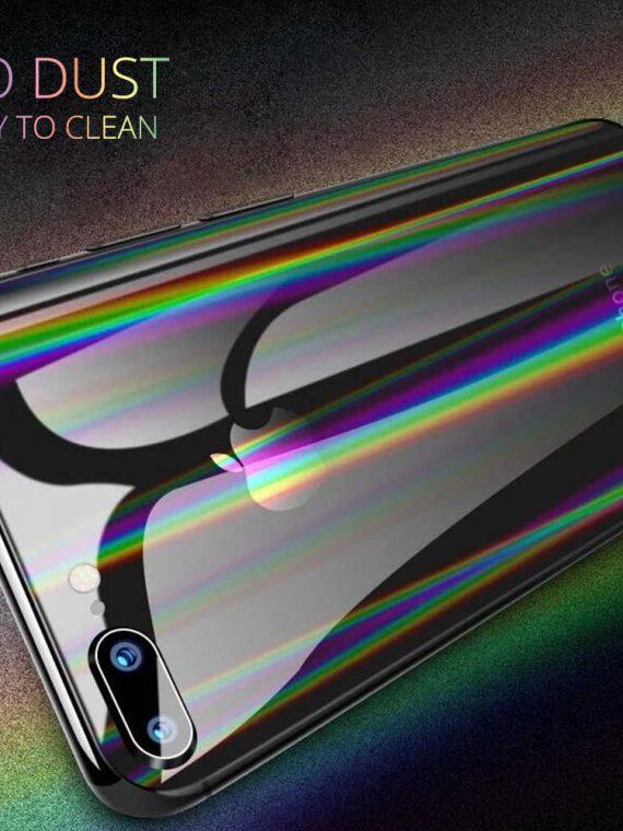 Folia Ochronna Na Ekran Z Powrotem Film Ochrony Gradientu Aurora Przejrzyste Dla Iphone Xs Max X.jpg Q50o