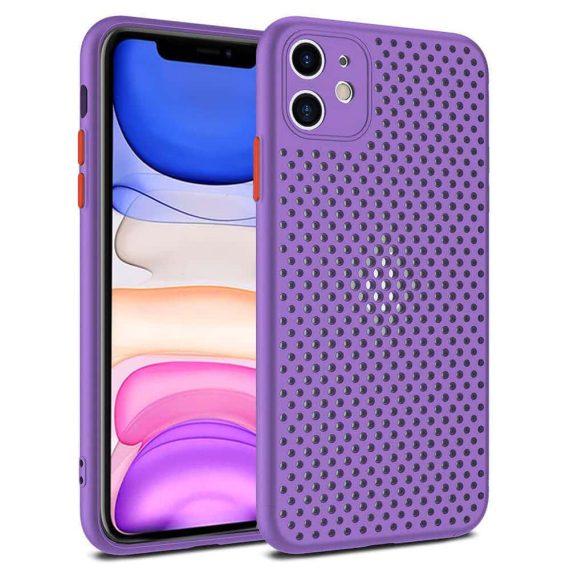 Etui do iPhone 11 oddychające nowoczesne fioletowe