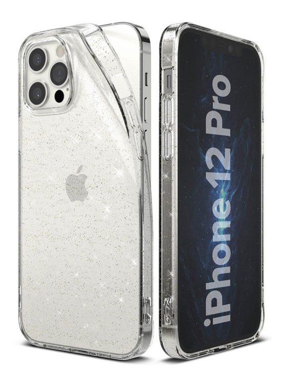 Etui Iphone 12 Pro Brokat Brokatowe Glitter Przezroczyste 20
