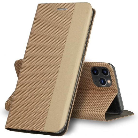 Etui do iPhone 11 Pro Max eleganckie stylowe złote z klapką
