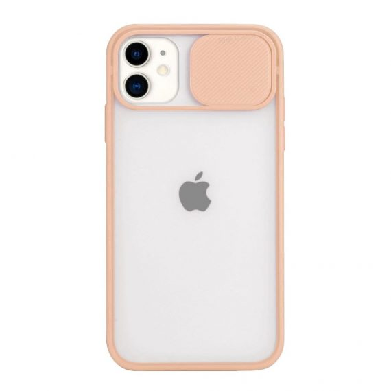 Etui do iPhone 11 z ochroną aparatu półprzezroczyste twardy tył koralowe