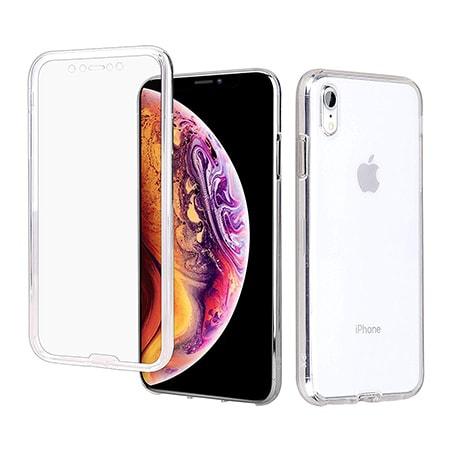 Etui Na Iphone Xr Silikonowe 360 Full Przod I Tyl Przezroczyste