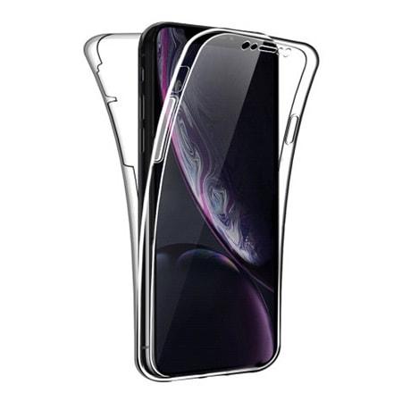 Etui Na Iphone Xr Silikonowe 360 Full Przod I Tyl Przezroczyste G