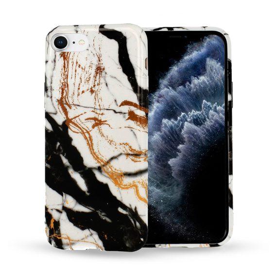 Etui do iPhone SE2020/8/7 oryginalne czarno-biało-złote