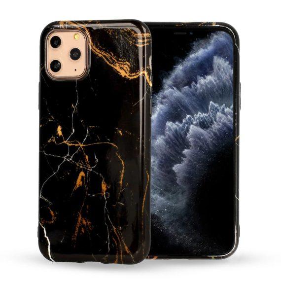 Etui do iPhone 6/6S marmurkowe czarno-złote