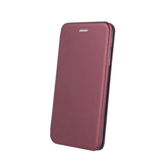 Etui do iPhone 12 Mini klasyczne burgundowe z magnetyczną klapką