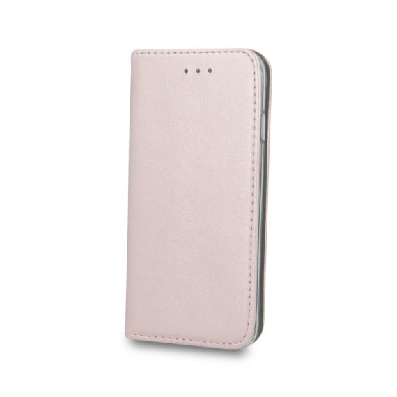 Etui do iPhone 12 Mini eleganckie stylowe różowo-złote z magnetyczną klapką