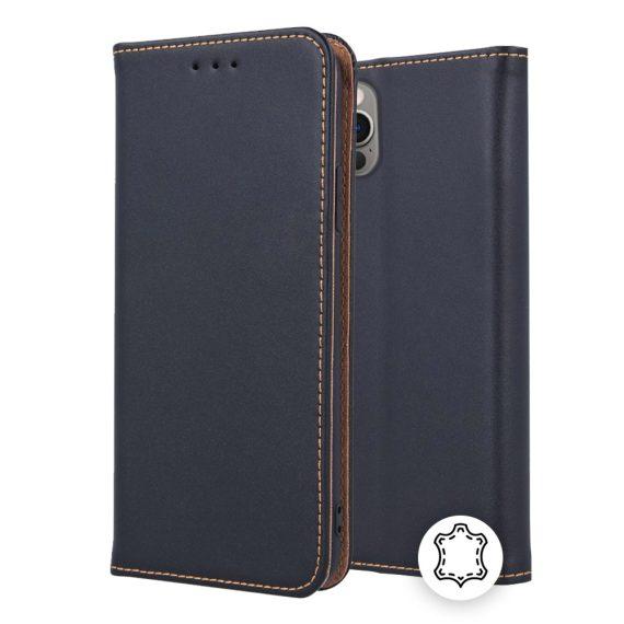 Etui do iPhone 12 Pro eleganckie skórzane czarne