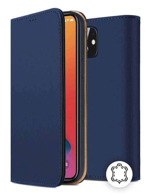 Etui Do Iphone 12 12 Pro Eleganckie Skórzane Granatowe 2
