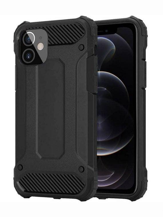 Etui Do Iphone 12 12 Pro Ochronne Solidne Czarne Karbon
